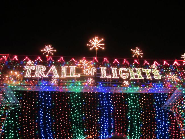 trail of lights sign