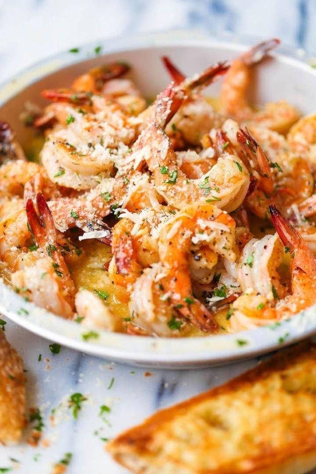 LOW-CAL Savory Shrimp Scampi