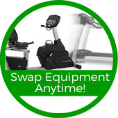 swap out fitness equipment anytime